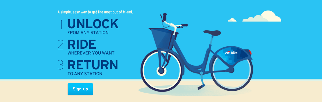 Citibike Miami Homepage